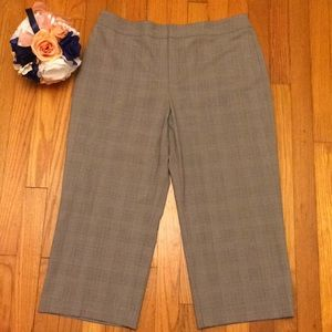 Apt. 9 Stretch plaid crop pants